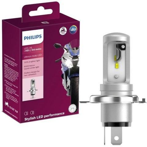 Lâmpada Moto Cg/ybr Philips Led H4 Correte Alternada +130% - Foto 2