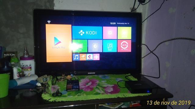 TV e TV box vendo 32 polegadas