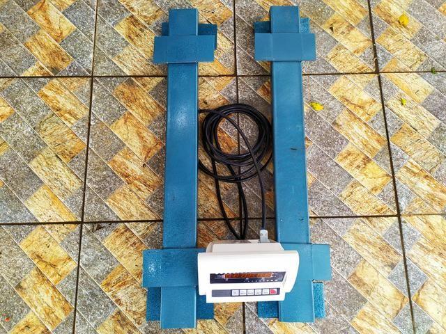 Balança de gado Barra de pesagem 3000 kg Bateria/Led vermelho Brete / Gaiola/ Tronco - Foto 2