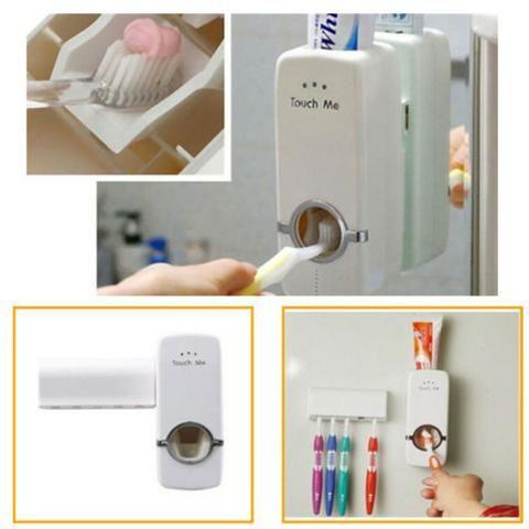 Dispenser de creme dental mais suporte de escova - Foto 3