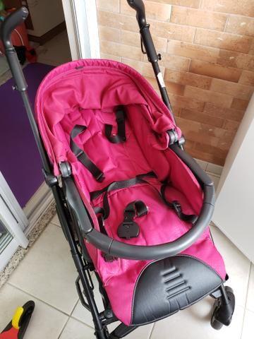 Kit carrinho Peg-Perego switch four + bebê conforto + forro almofadado sob medida