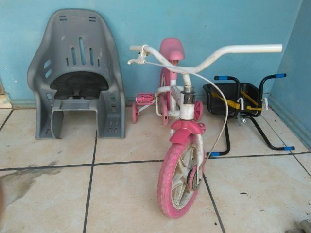 Bicicleta + cadeirinhas