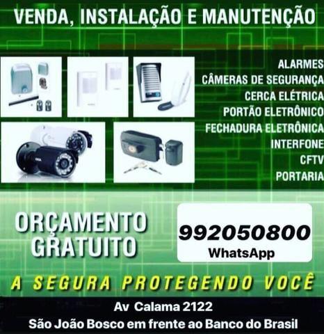 Instalação e manutenção de câmeras