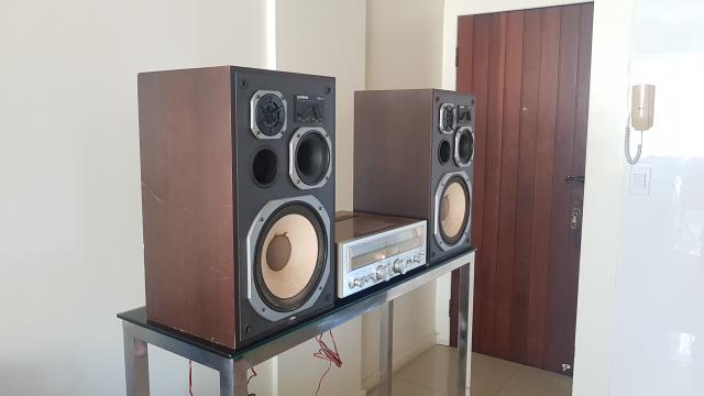 Receiver Sansui e par de caixas de som Gradiente - Foto 3