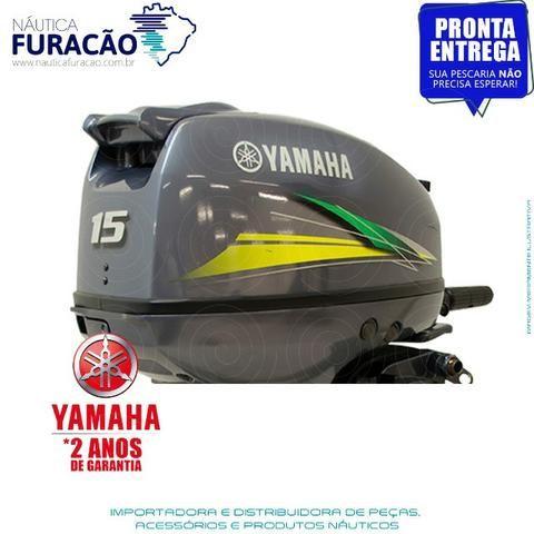 Motor de Popa Yamaha 15hp (Partida Manual) - Foto 2