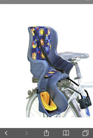 0219580bd191a Cadeirinha Bicicleta Traseiro Engate Rapido Cinza