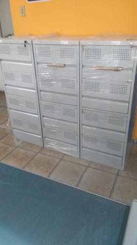 Armário e arquivo curto em aço