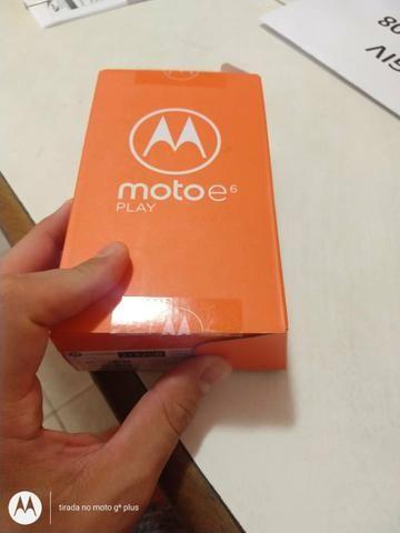 Moto E6 play azul / c/ biometria / novo / lacrado - Foto 2