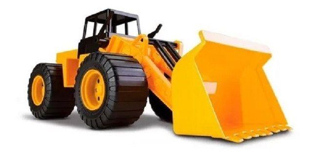 R$39,90 - Trator Combo Escavadeira Articulado Basculante Cardoso Toys - Foto 4