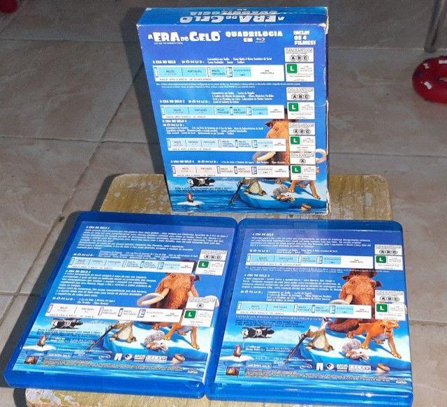 coleçao box blu-ray da era do gelo - Foto 3