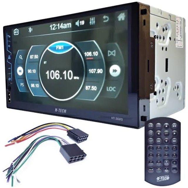 """Central Multimidia 7"""" com Mp5 /USB/ AUX/ SD/ Bluetooth/ Espelhamento H-TECH"""