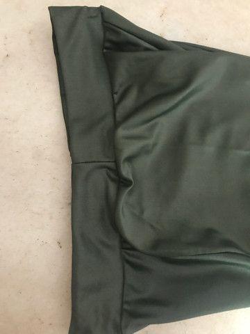 Calça fleer cirrê verde militar  - Foto 4