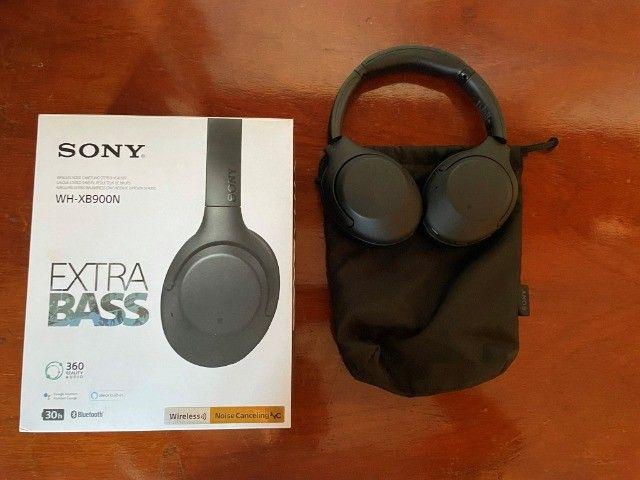 Sony WH-XB900N - Fones de Ouvido Bluetooth Sem Fio  - Cancelamento de Ruído -Alexa