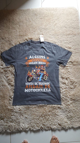 Camisa divertida moto motociclista