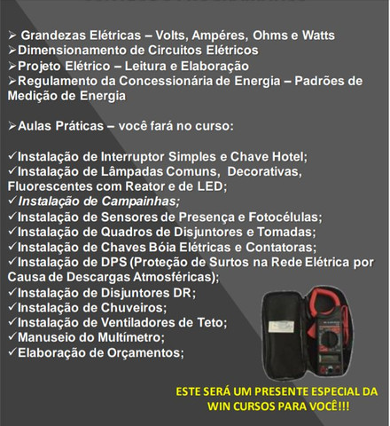 Curso de Eletricista Predial - Foto 2