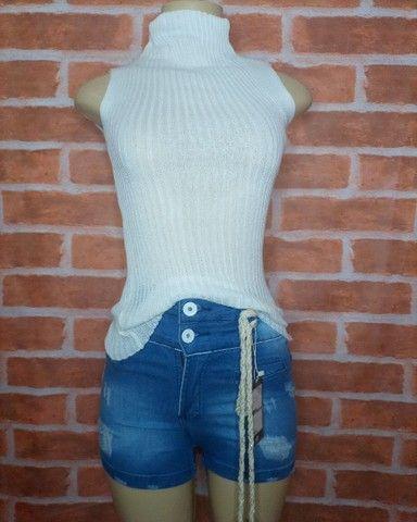 Short Jeans com cordão - Foto 3