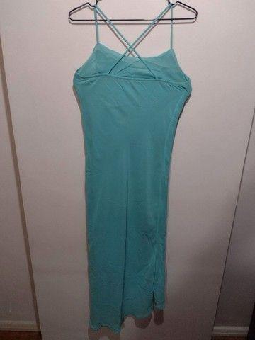 Vestido azul piscina - Foto 3
