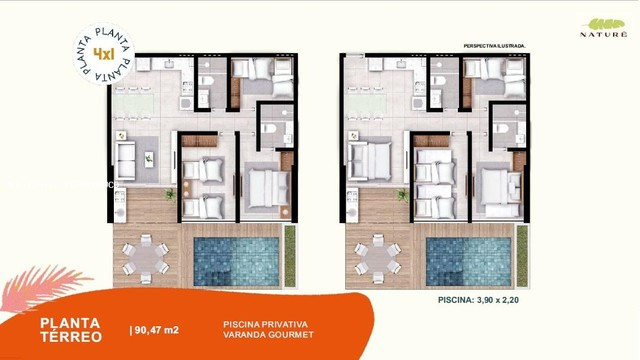 Apartamento 2 Quartos para Venda em Ipojuca, Muro Alto, 2 dormitórios, 1 suíte, 1 banheiro - Foto 16