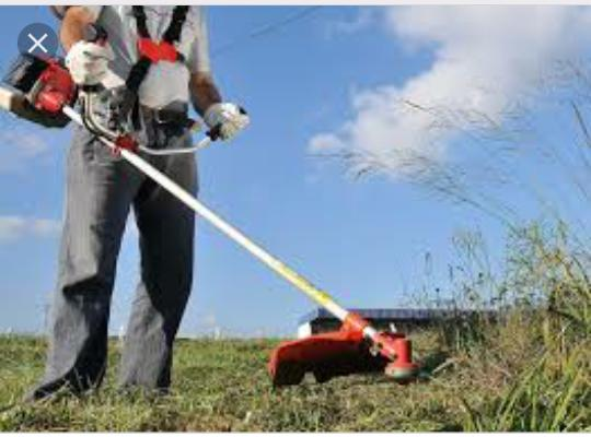 Trabalho com roçagem. limpo quintais e terrenos