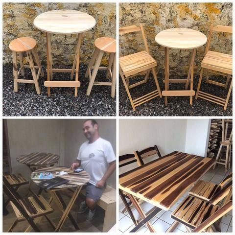Mesas madeira Bar - Comércio - Foto 4