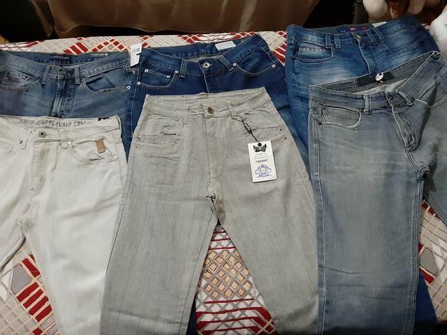 Calças masculinas novas/semi-marcas Tam.40, leia o anúncio