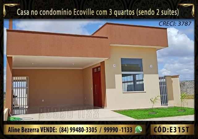 Oportunidade, casa no Ecoville com 3 quartos sendo 2 suítes, aceita financiamento - Foto 2