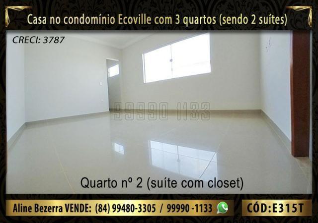 Oportunidade, casa no Ecoville com 3 quartos sendo 2 suítes, aceita financiamento - Foto 9