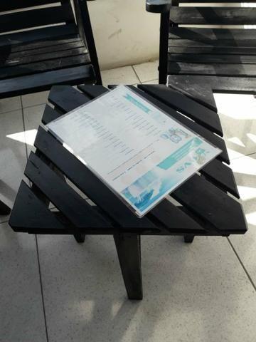 Conjunto de Cadeiras com mesinha Rústico - Foto 3