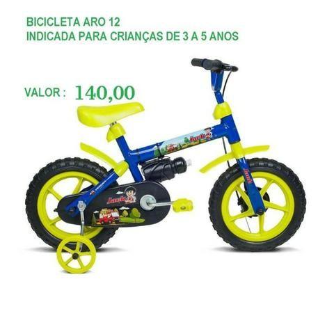 Bicicleta Infantil Aro 12, Entregamos Sem Taxa!
