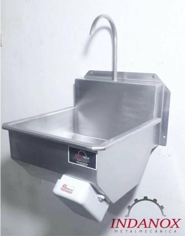 Lavatório assepsia mãos e antebraço cozinhas industriais açougues frigorificos - Foto 2