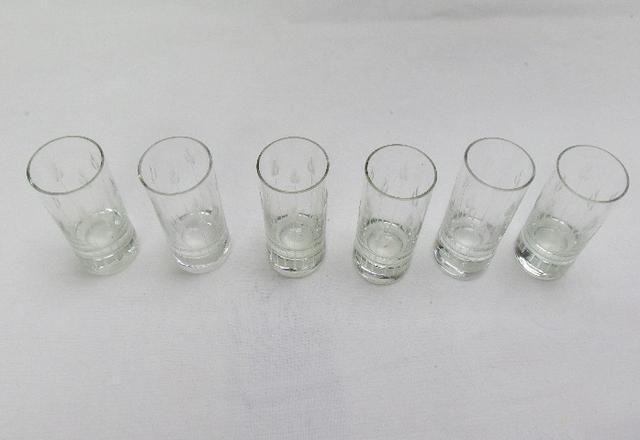 6 copos de shot de cristal anos 60 - Foto 3