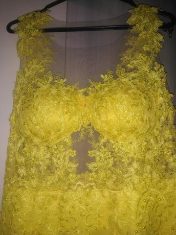 Vestido Festa Amarelo(Alta Costura) - Foto 3