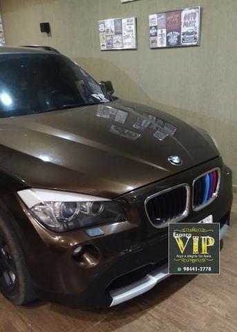 BMW X1 Sdriver 18i Marrom e bancos Bege - Foto 8