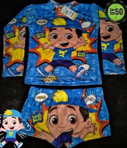 Conjunto menino infantil Luccas Neto com proteção UV50+ - Foto 4