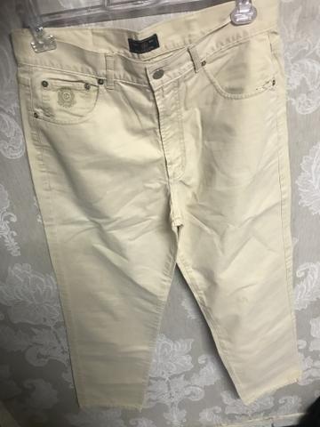 Calça sarja via Vêneto, masculina, tamanho 44, elegante - Foto 2