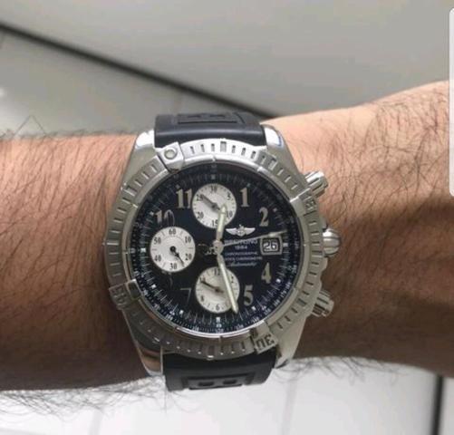 a6376f963bd Relógio Breitling Chronomat Evolution Black Silver - Bijouterias ...