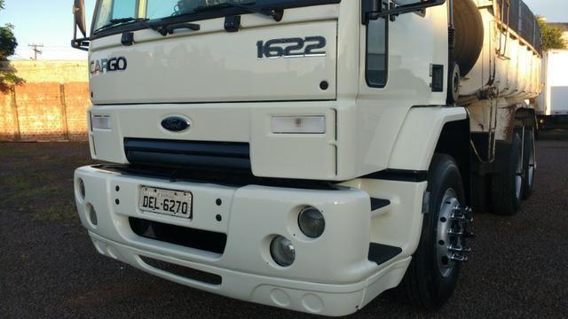Ford Cargo 1622 truck 6x2 com caçamba Rosseti 10m3 unico dono - Foto 8