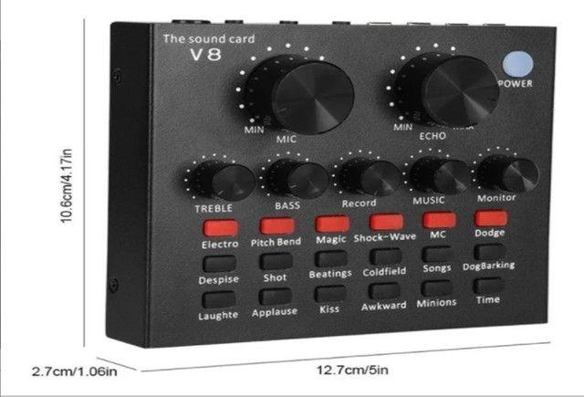 Placa De Som V8 Smart Multipurpose Live Interface De Áudio V8 1ra Geração - Foto 4