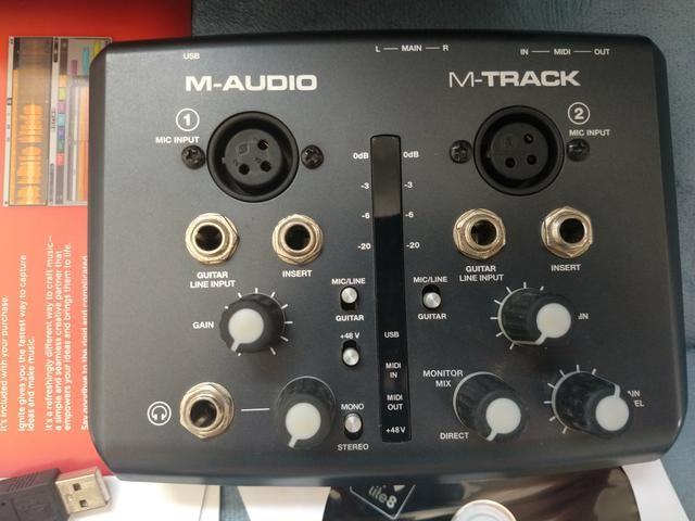 M-audio M-track Li 2x2 Interface De Áudio Para Homestudio - Foto 2