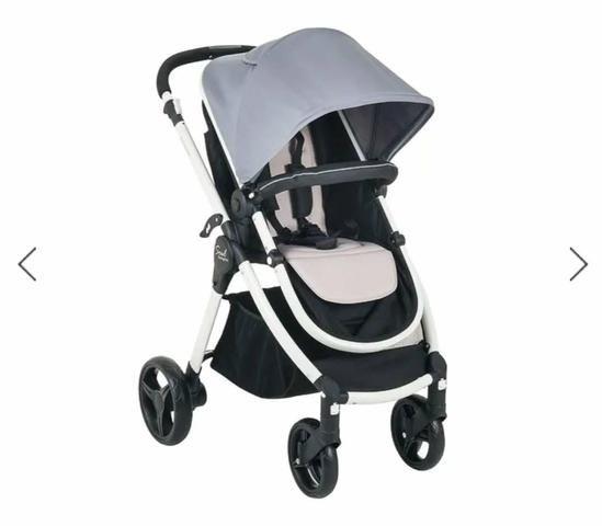 Carrinho de Bebê + Bebê Conforto + Capa de chuva - Foto 2