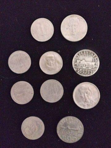6 moedas 100 Réis Tamandare e 4. 200 Réis Maua - Foto 2