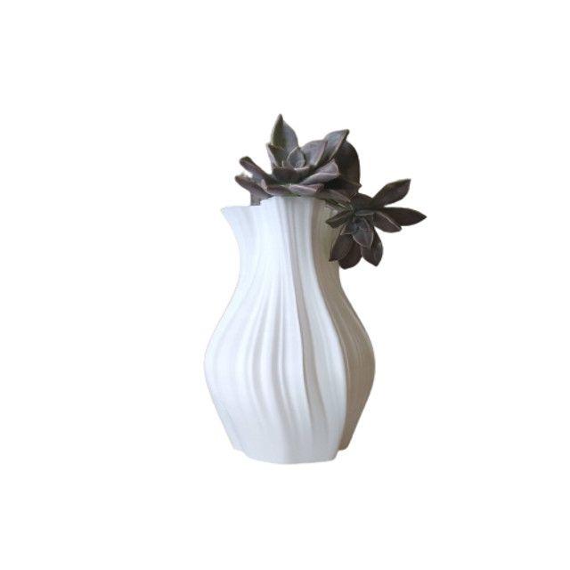 Vaso De Flor Decorativo Impresso Em 3d - Foto 2