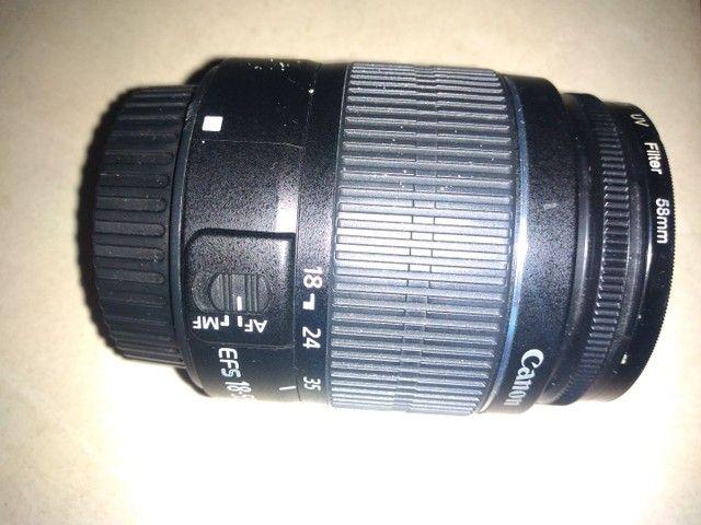 Lente Canon 18/55m nova zero