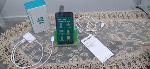 Smartphone Samsung Galaxy J2 Core Seminovo Violeta<br>