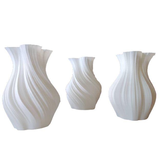 Vaso De Flor Decorativo Impresso Em 3d - Foto 3