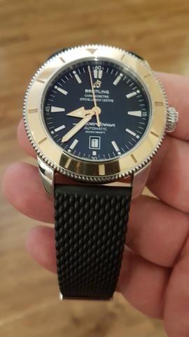 aa505e42f33 Relógio Breitling cx 46mm bezel em ouro rose - Bijouterias