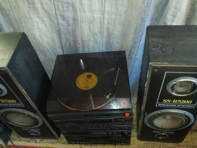 Som 4X1 Sony 1994. Bom estado. Funciona rádio e toca disco