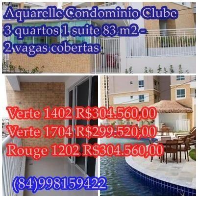 Oportunidade Apto de 3 quartos 1 suite novo no condominio Aquarelle 83 m2