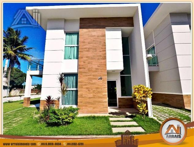 Vendo casa duplex em condomínio c/ 3 suítes no Eusébio
