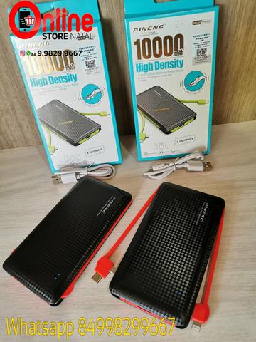 ORIGINAL Carregador Portatil Pineng Pn 956 10.000 Mah - Com Conector Type C, iPhone e V8 - Foto 2